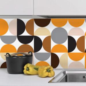 Adesivo de Azulejo para Cozinha Círculos Geométrico