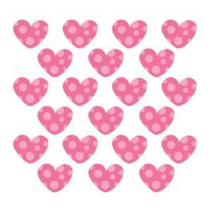 Adesivo de Parede Infantil Coração Rosa Bolinhas