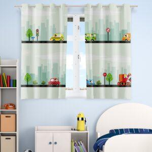 Cortina Infantil para quarto de menino carrinhos