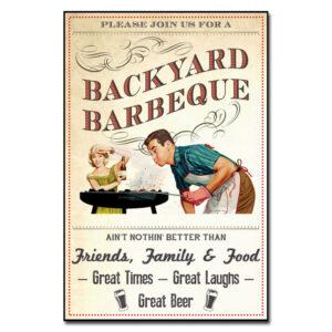 Placa Decorativa MDF Vintage Barbecue
