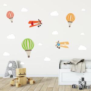 Adesivo de Parede Balões e Aviões para Quarto de Bebê Cobre 2m²,Adesivo de Parede Balões e Aviões para Quarto de Bebê Cobre 2m²,Adesivo de Parede Balões e Aviões para Quarto de Bebê Cobre 2m²
