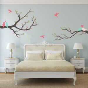 Adesivo Parede Quarto Pássaros Amor