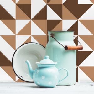 Adesivo de Azulejo para Cozinha Marrom Brooklyn Ladrilho