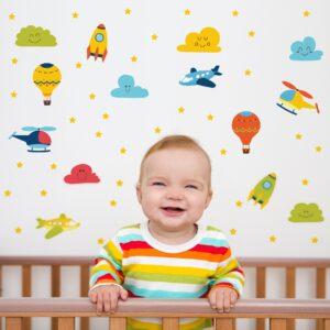 Adesivo de Parede para Quarto de Bebê Aviões e Balões