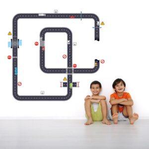Adesivo de Parede Quarto Infantil Ruas e Carros