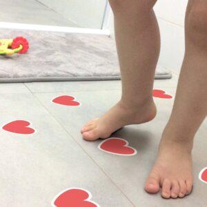 Adesivo Piso de Banheiro Antiderrapante Coração