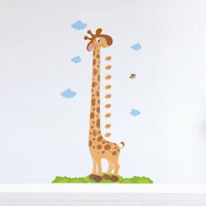 Adesivo de Parede Girafa Régua de Crescimento