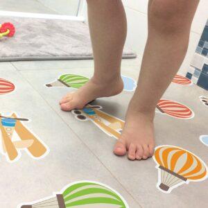 Adesivo Piso de Banheiro Antiderrapante Baloes Infantil