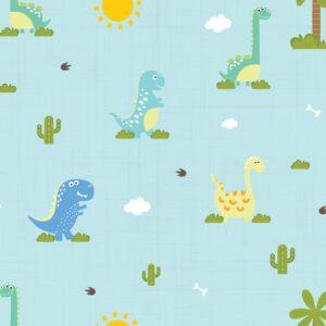 Papel de Parede Infantil Dinossauro Baby