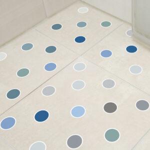 Adesivo Piso Banheiro Antiderrapante Bolinhas Frias 14un