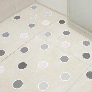 Adesivo Piso Banheiro Antiderrapante Bolinhas em Cinza