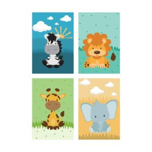 Placas Decorativas Safari Infantil MDF