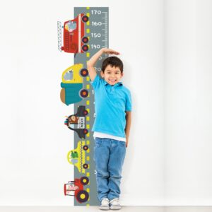 Adesivo de Parede Infantil Régua Carros