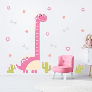 Adesivo Infantil Dinossauro Baby Menina Régua