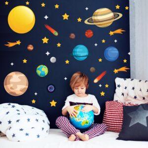 Adesivo de Parede Infantil Espaço Sistema Solar