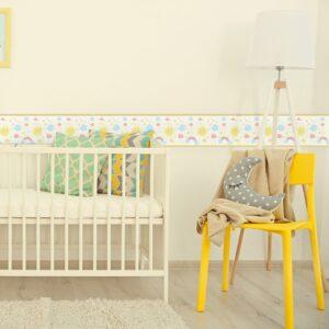 Adesivo de Parede Faixa Decorativa Infantil Arco Iris 10m x 10cm
