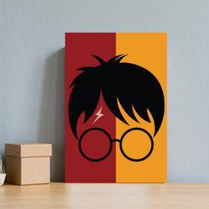 Placa Decorativa MDF Infantil Bruxinho Harry Óculos 20x30cm