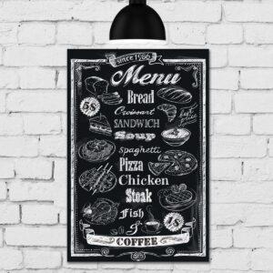 Placa Decorativa MDF Frase Giz Menu Restaurante