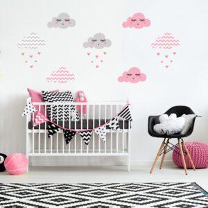 Adesivo de Parede Infantil Nuvens Chevron
