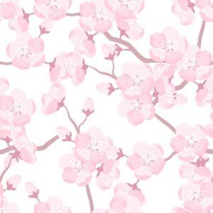 Papel de Parede Adesivo Flor de Cerejeira
