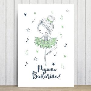 Placa Decorativa MDF Frase Pequena Bailarina