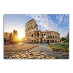 Placa Decorativa MDF Itália Coliseum Viagem