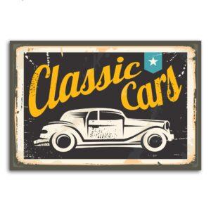 Placa Decorativa Vintage Carros Classic Cars