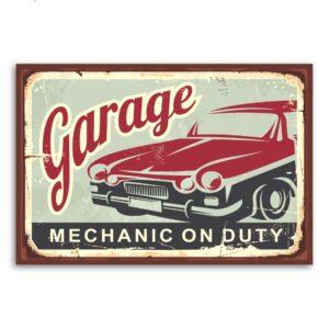 Placa Decorativa Vintage Carros Garage