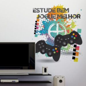 Adesivo de Parede Video Game em português